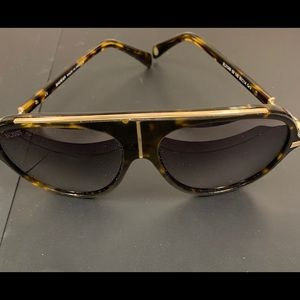Balmain Tortoise Gold gradient Aviator Sunglasses